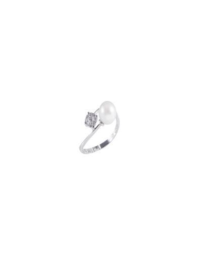 anello perle e diamanti an 112
