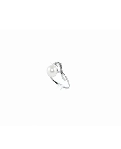 anello perle e diamanti an101