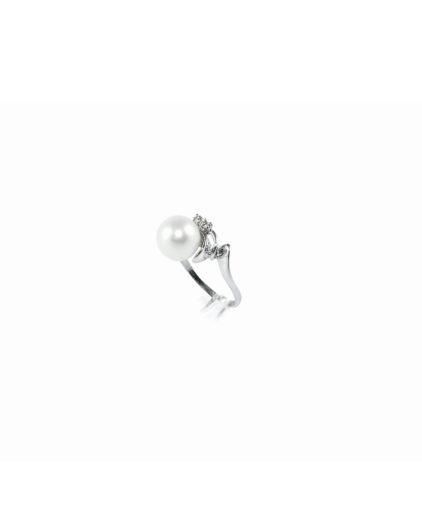 anello perle e diamanti an102