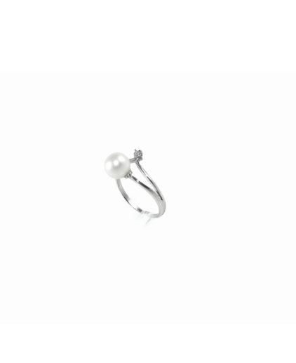anello perle e diamanti an104