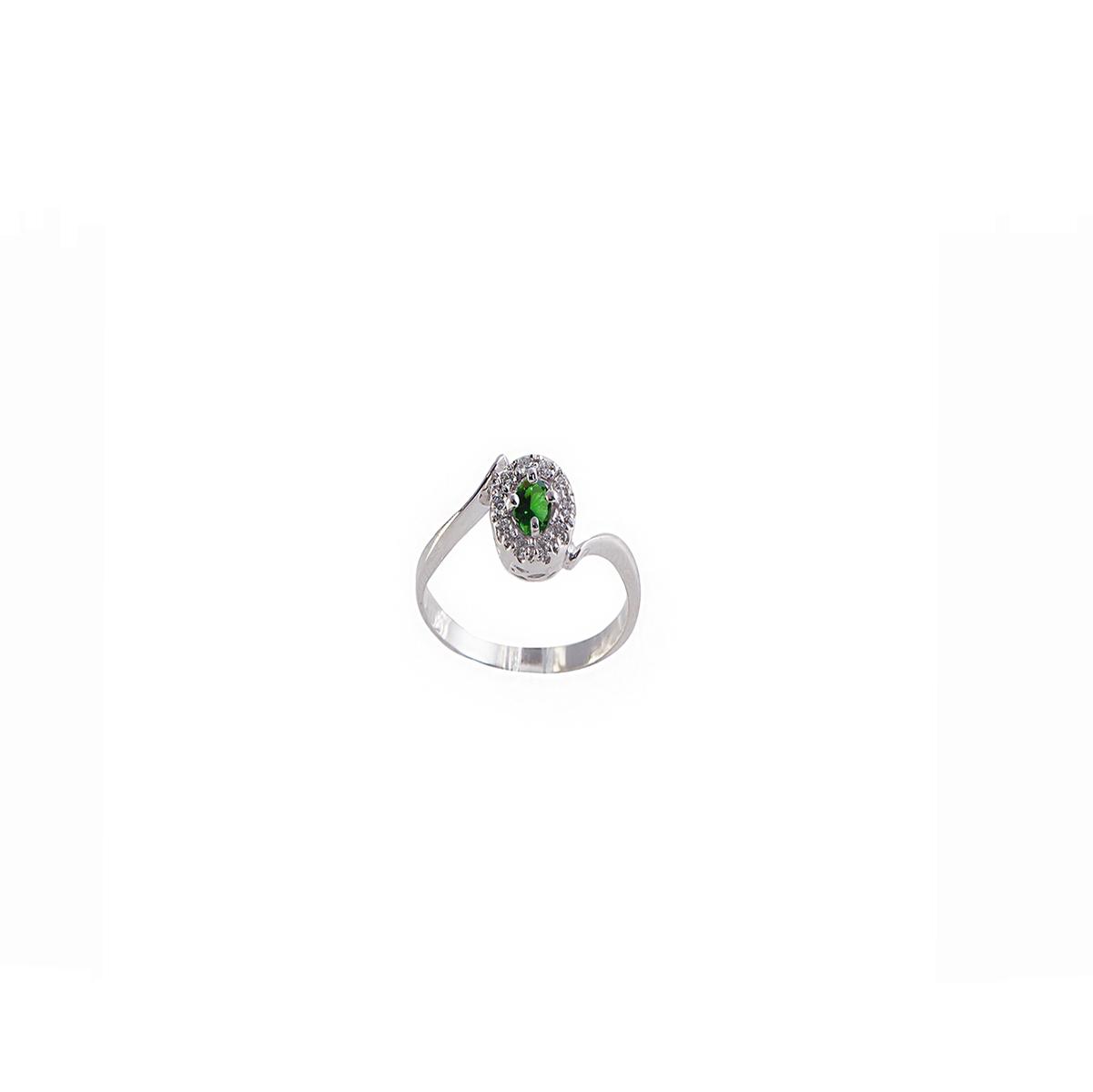 anello smeraldo e diamanti anf01s-02-03