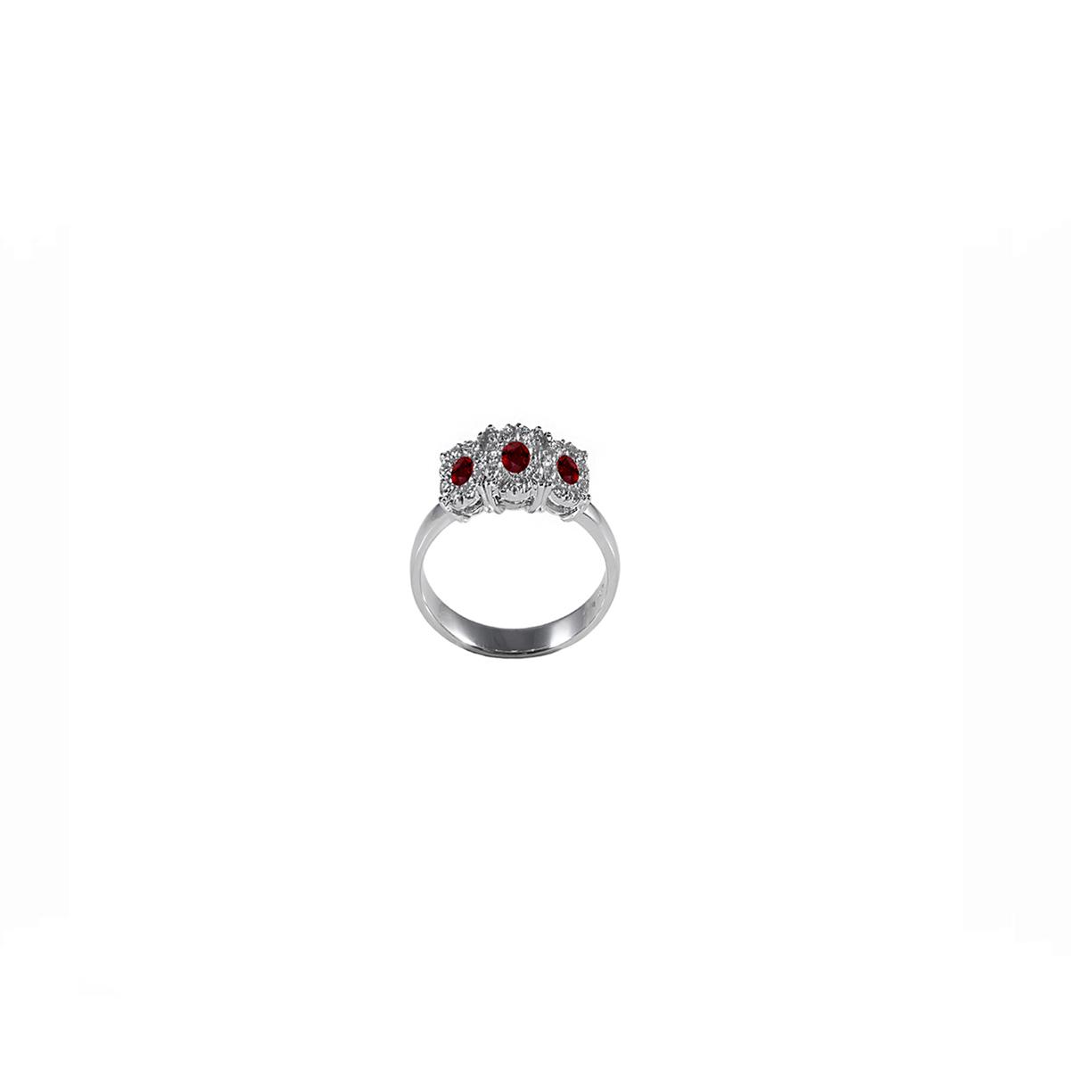 anello trilogy rubini e diamanti trf454r-565