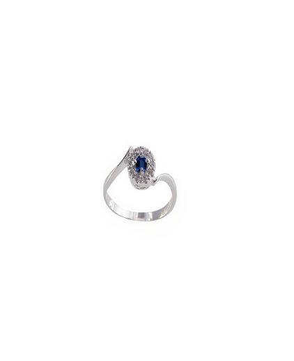 anello zaffiro e diamanti anf01z-02-03