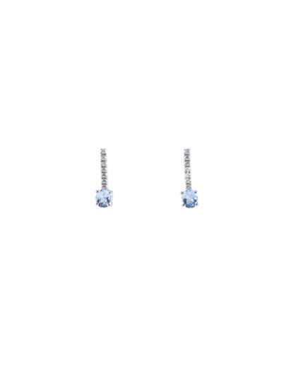 orecchini acquamarina e diamanti oram14