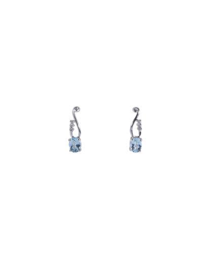 orecchini acquamarina e diamanti oram7