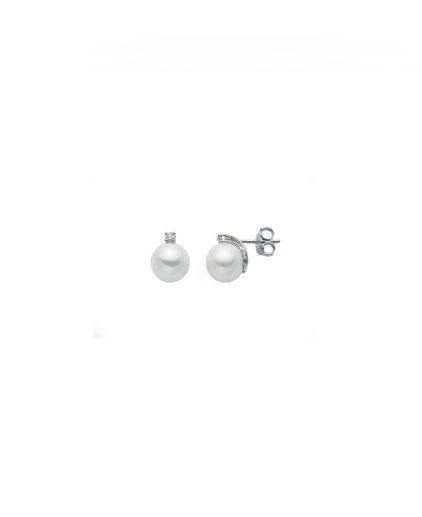 orecchini perle e diamanti a vite or199-202