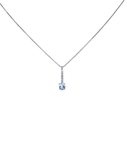 pendente acquamarina e diamanti peam13