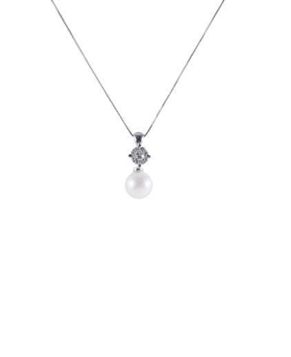 pendente perle e diamanti pe112