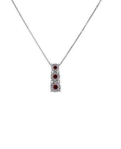 pendente  trilogy rubini e diamanti plf456r..