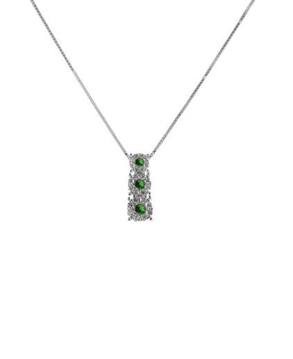 pendente  trilogy smeraldi e diamanti plf456s