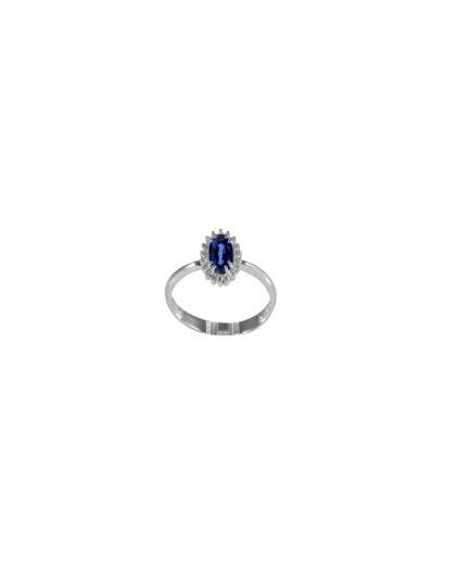 anello zaffiro e diamanti  anz010-011
