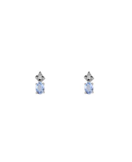orecchini acquamarina e diamanti oram19