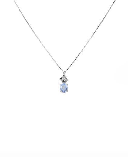 pendente acquamarina e diamanti peam19