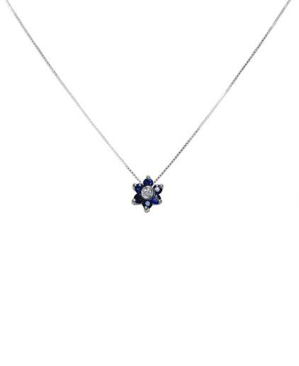 pendente zaffiri e diamanti plz009